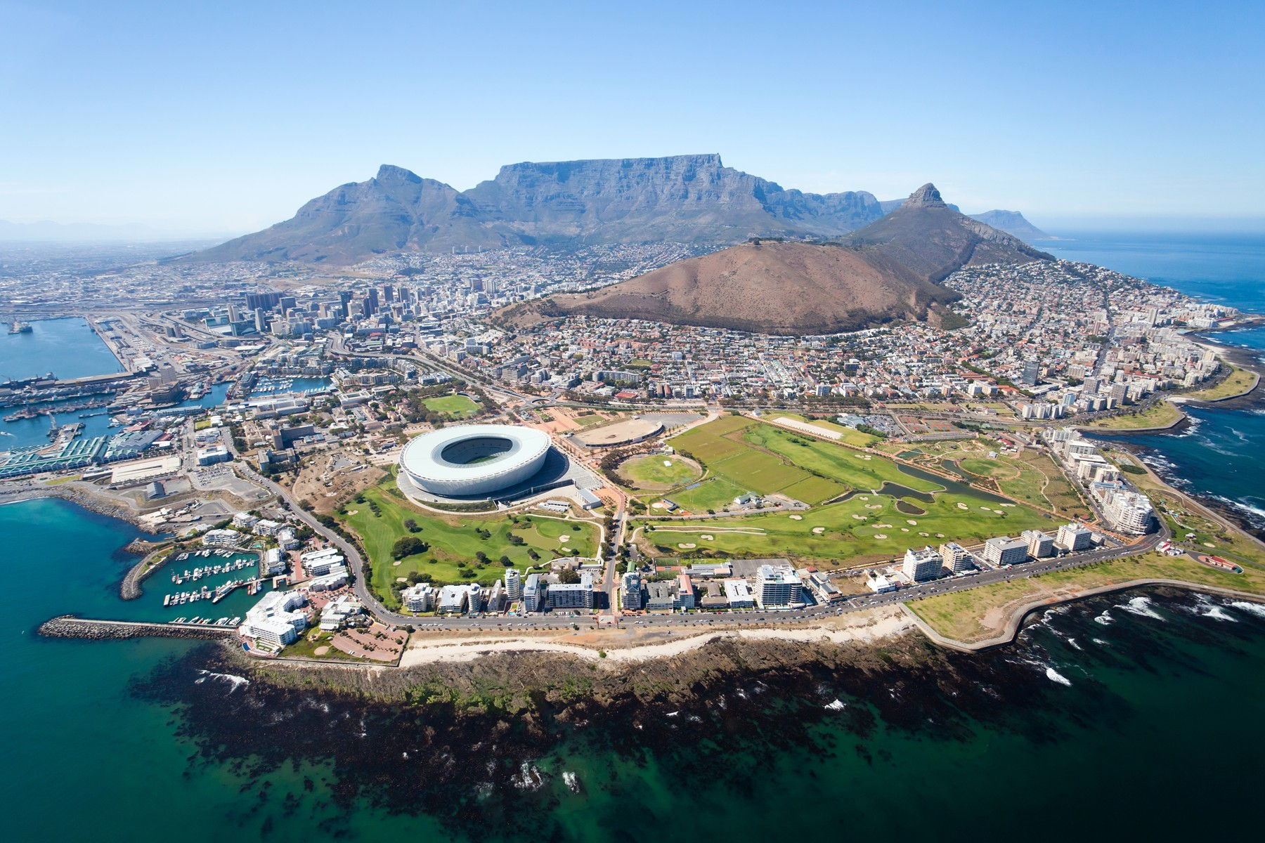 Cape Town aerial view, South Africa