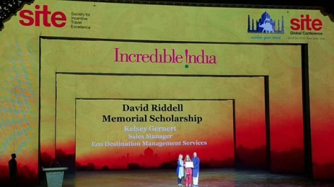 SITE Society for Incentive Travel Excellence Kelsey Gernert Award India David Riddell Travel