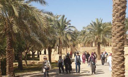 Al Ula Riyadh Tourist enjoying their visit to Saudi Arabia